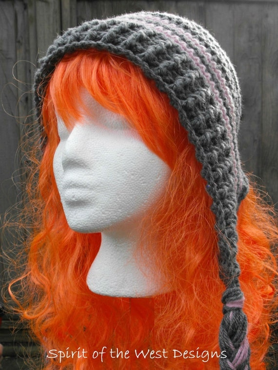 Crochet Earflap Hat Pattern Child Teen Adult Sizes Bonnet with