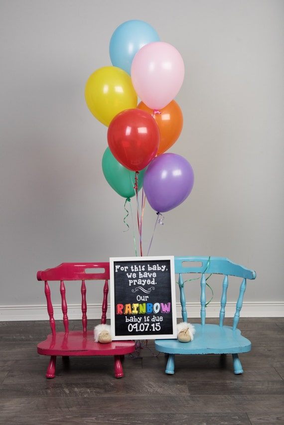 Rainbow Baby Announcement Baby After Miscarriage Chalkboard