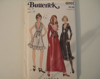 Butterick Pattern 6001 size 16 uncut