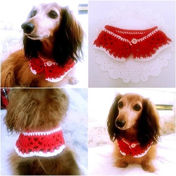 Crochet Dog Collar Etsy