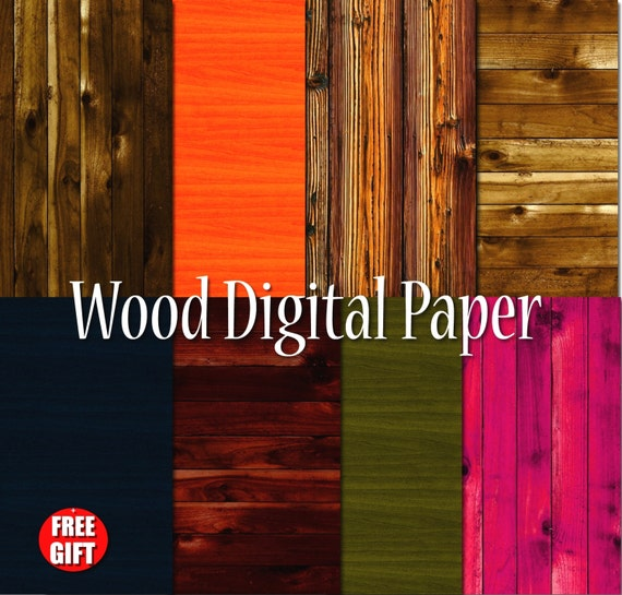 Dark Wood digital paper Wood texture Wood wall art print Scrapbook paper Wood digital background Wood clipart Primitive wood patterns wooden