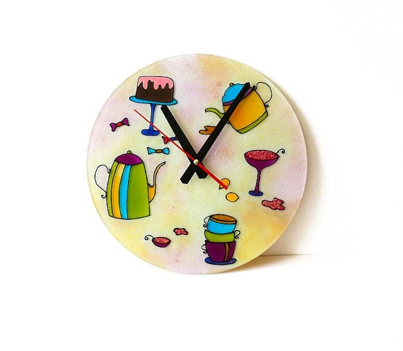 Wall clock modern wall clock kitchen round wall lock country Modern clocks for kitchen
