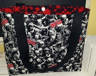 ZOMBIES!  Walking Dead Tote, bag or Purse With blood splats