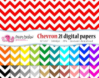 Chevron digital papers. Commercial & Personal Use. Instant Download. chevrons pattern patterns paper white zig zigzag scrapbooking colorful.