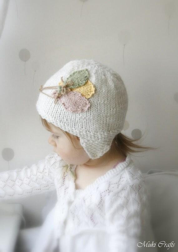 KNITTING PATTERN earflap hat Balloons (newborn baby toddler sizes)