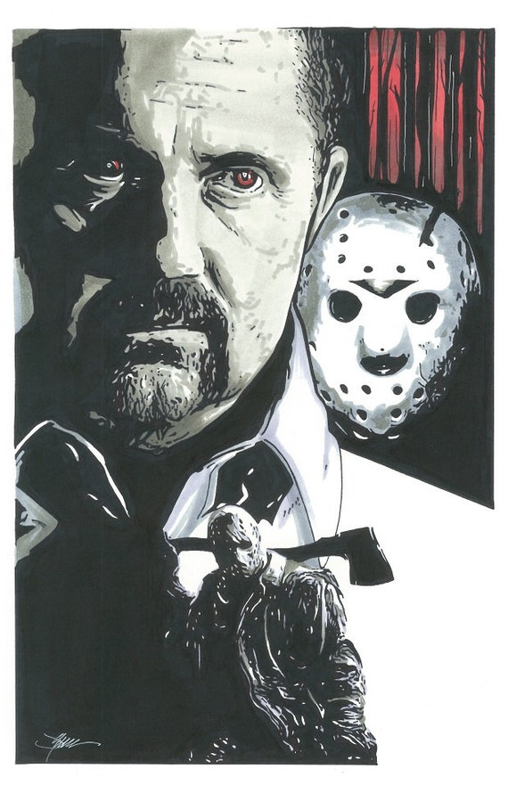 11x17 Kane Hodder Color Print From Friday By