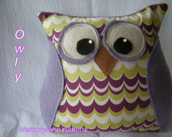 Owl pillow- Sewing Pattern-PDF-Instant Download-Nursery gift, sofa pillow, decoration, softie