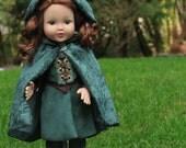 Medieval 18 Inch Doll Cloak - Hooded Doll Cloak - Doll Medieval - 18 Inch Doll Cape - LOTR Doll Cloak - Renaissance Doll - Doll Costume