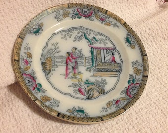 "Antique ""Tea House""  plate by Gildea & Walker, 19th century, Tea House Plate, Geisha Plate, Asian Plate"