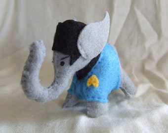 Felt Spock Elephant Plush Star Trek