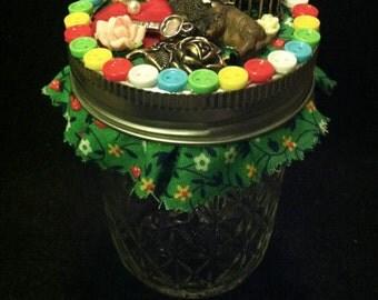 Buffalo and Buttons Stash Jar