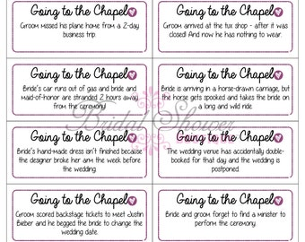 Going to the Chapel Bridal Shower Game PURPLE -Fun, Detailed, & Cute!