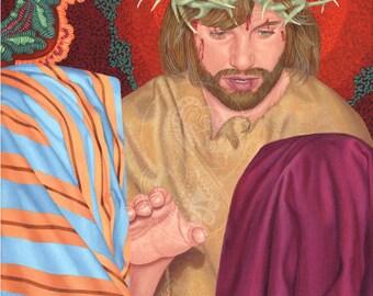Jesus Meets the Women of Jerusalem - Canvas Painting Reproduction