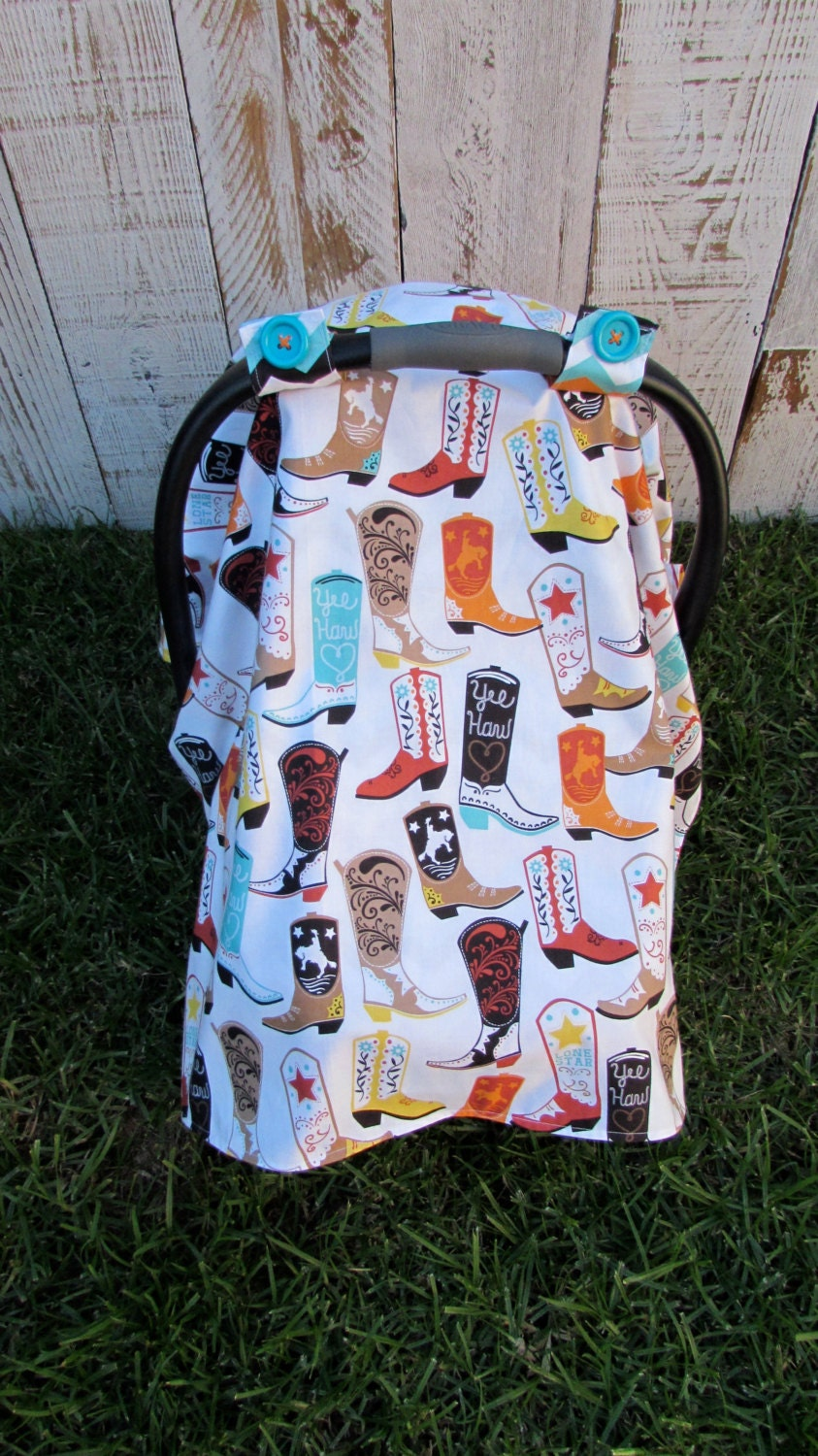 baby boy cowboy boot car seat canopy with chevron back. Black Bedroom Furniture Sets. Home Design Ideas