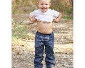 Cpt. Comfort Jeans Pants Sewing PDF Pattern Sizes 3mths-14 For Boys or Girls Modern Knit Waistband, roll up lined atterns for Pirates