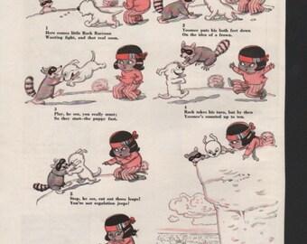 """Original Good Housekeeping cartoon """"Yoomee"""" by James Swinnerton 1930s, 8x11 in. - Kids239"""