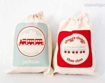 Train Favor Bags, Train Party Favor Bags, Train Personalized Favor Bags-Train Favor Bags - Train Party Favors - Train Gift Bags, Train Bags