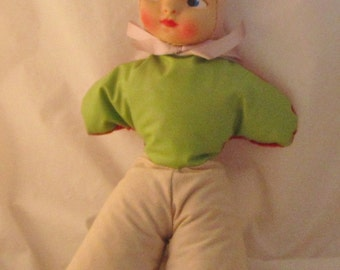 Vintage 1940 Cloth Doll