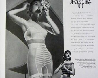 1956 Formfit Skippies Panties Vintage Advertisement Bathroom Wall Art Bedroom Fashion Decor Original Magazine Print Ad Ladies Paper Ephemera