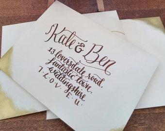 Custom Hand Calligraphy Envelopes