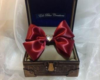 Satin Ribbon Double Bow Tie Hair Clip