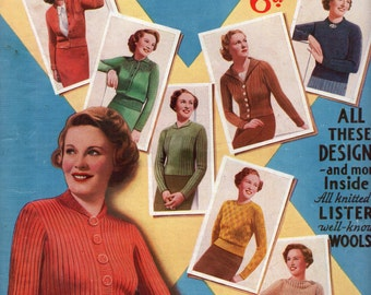 1930's Bestway Quickly Made Woollies PDF - Vintage Knitting Pattern  - 1930's Jumper - Sweater - Cardigan