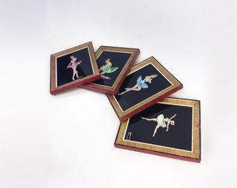 Set of 4 pictures BALLERINAS 1950