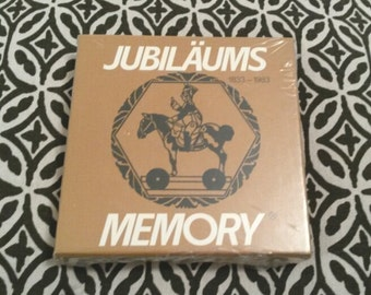 1980's Vintage Memory Game - New Old Stock - Jubilaums Memory Cards - Wrapped in original packaging! - Made in Stuttgart, Germany - c.1983