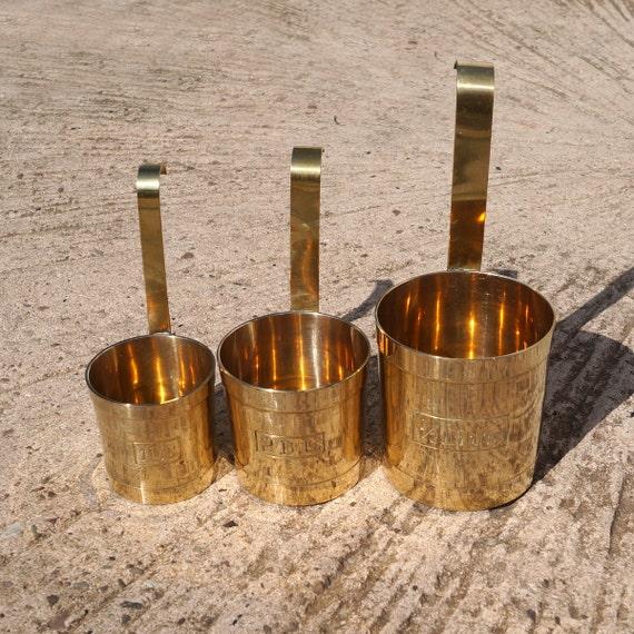 Bass Long Handled Measuring Jugs Ladles Brass Kitchen