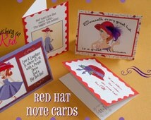 Red Hat, greeting card, red hat society, red hat ladies, mothers day, red hat greeting card, red, purple, ladies, home decor
