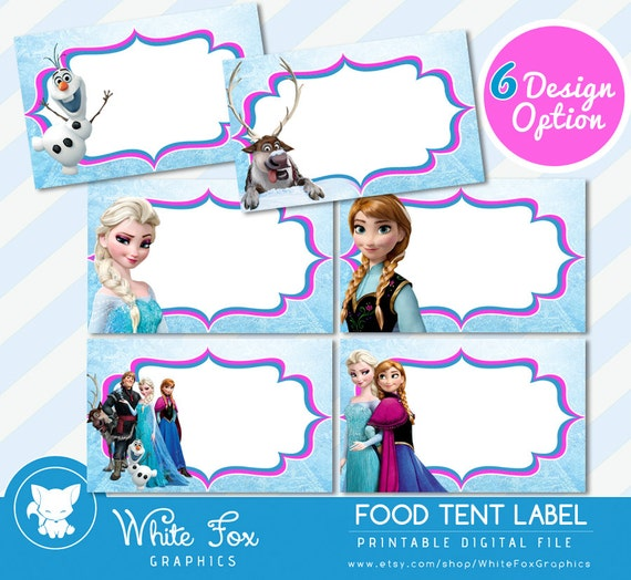 Eloquent image with frozen printable food labels