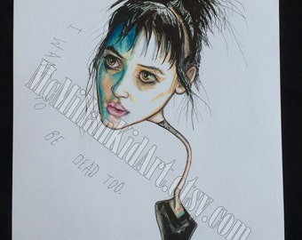 "Winona Ryder as Lydia Deetz in ""Beetlejuice"" Art Print"