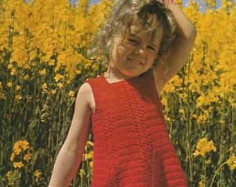Instant Download - PDF- Pretty Summer Dress Vintage Crochet Pattern (D8)