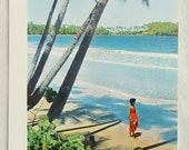 Vintage Caribbean Island Beach Trinidad Color Photo- Original Print 1950s