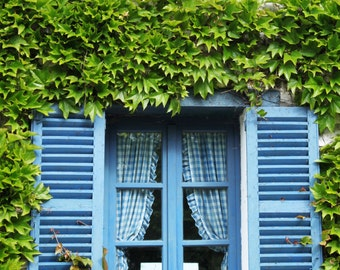 Window with blue shutters, (Giverny, France)