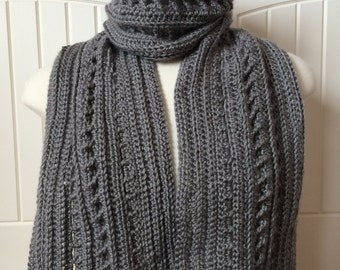 Crochet Scarf Pattern - Backwoods Boyfriend Scarf - 2-in-1 Men's Scarf Pattern with Instructions in Pictures and Writing - Instant Download!