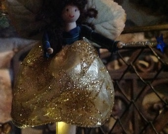 Christmas Fairies in Gold and Pewter