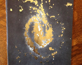 SALE!** Gold Vintage Astronomy Print -- Unknown Galaxy