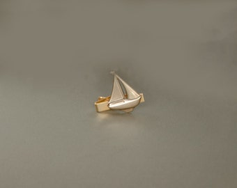 Sailboat Tie Clip Sails Windsurfing Nautical Gifts Sailboat Gifts Nautical Tie Clip Gifts for Him Men's Gifts Father's Day