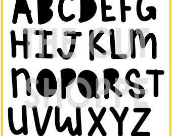 The A to the Z Alpha is a handwritten alphabet that can be used on your scrapbooking and papercrafting projects.