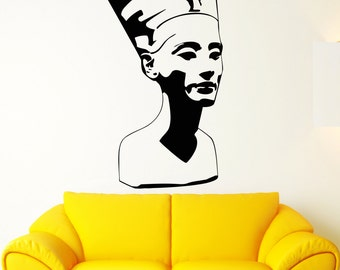 Wall Stickers Nefertiti Egypt Pharaoh Statue Ancient Culture Vinyl Decal (ig2357)