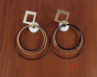 Earrings, hoop earrings, unique gifts, loop earrings, large hoop earrings, large hoops, modern earrings, simple earrings, LarkKing ER1001