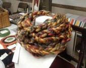 AUTUMN SPICE Chunky Bulky Infinity Retro, High Fashion Scarf