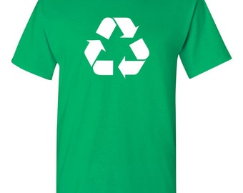 Funny Recycle Shirt Reduce Reuse Recycle Green Environmentally Friendly Save the Environment Graphic Tee Humor Trendy Modern Shirt BD-332