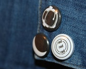 Rad Rad Rad Black and White Pinback Button