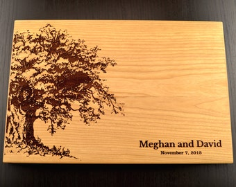 Personalized Wedding Cutting Board, Engraved Chopping Board, Bridal Shower Gift, Anniversary Gift, Custom Engagement Gift, Housewarming Tree