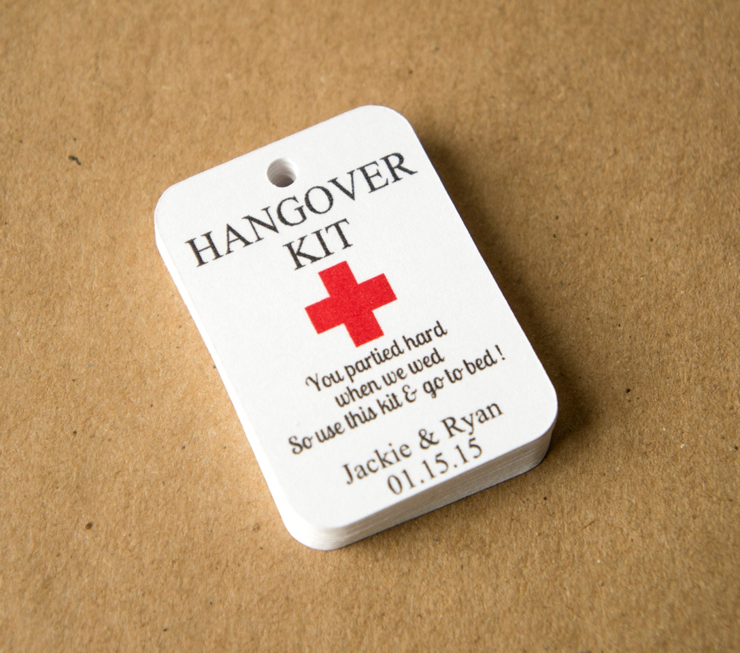 Hangover Kit Tags 1 75 By 1 25 Inches Hangover Kit Wedding