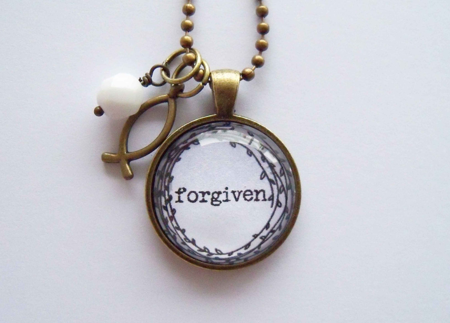 one word bracelet forgiven necklace one word jewelry inspirational pendant 6047