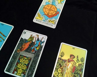 Money/Financial Sources of Income Help Spread Tarot Card Reading - 4 Card Spread