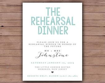 Printable Wedding Rehearsal Dinner - Rehearsal Dinner Invitation - Printable Wedding Invitation - 105